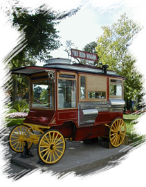 Sandusky's iconic red popcorn wagon in Washington Park downtown.